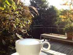 Perfect sunday morning at the terrace of Stout&Co - Amsterdam www.stout-co.com #terras #amsterdam #bedandbreakfast #stout_co