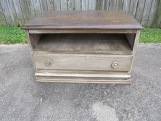 A tall chest of drawers, cut down and repurposed into a versatile piece. Think entertainment center,bench, hallway/foyer.