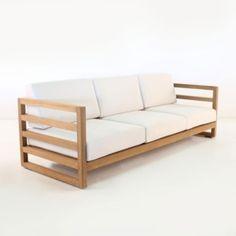 Manhattan A-Grade Teak Outdoor Sofa-0