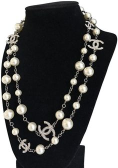 172d916693de6f Chanel Classic Pearl 5 Cc Logo Dual Sided Crystal Necklace - Tradesy Chanel  Necklace, Crystal