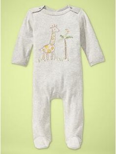 Favorite button one-piece | Gap. I think I'm obsessed with animals-especially lions and giraffes!