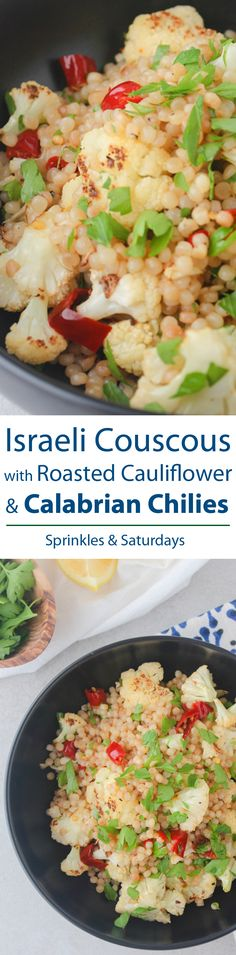 Israeli Couscous with Roasted Cauliflower & Calabrian Chilies Recipe ...
