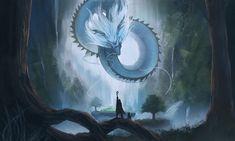 dragon, Riku Fujishima on ArtStation at https://www.artstation.com/artwork/PryJr