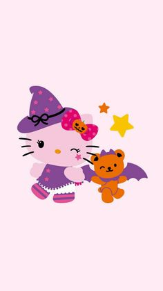 Hello Kitty Sanrio Wallpaper, Hello Kitty Wallpaper, More Wallpaper, Iphone Wallpaper, Hello Kitty Art, Hello Kitty Pictures, Here Kitty Kitty, Hello Kitty Halloween Costume, Cute Halloween