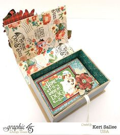 What a great gift idea! A card set inside a beautiful altered box. By: Keri Sallee using Raining Cats & Dogs #graphic45