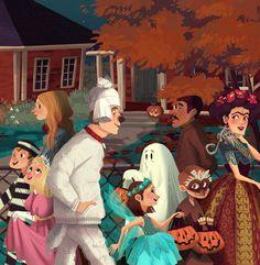 Halloween illustration by Kim Smith