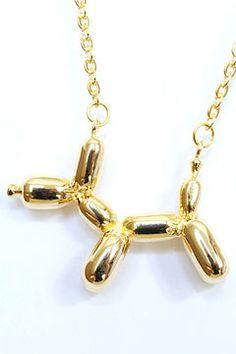 balloon dog necklace - so fun