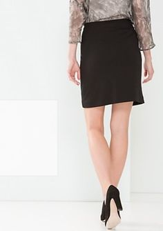d15aae0aa1846 Comma Business Skirt A line Black Ladies UK Size 12 Box12 67 h  fashion
