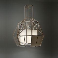 Vederlicht - a balsa wood lamp by Daniel Hulsbergen