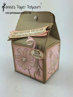 jpp - Vintage Milchkarton / Milkcarton Goodie / treat box / Whitewashing…