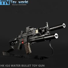 HK416 Electronic Toy Gun MAG FED water crystal bullet Rifle toy nerfie gel ball bullet pistol toys gun Children best cool gifts