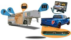 7-Inch Horse Trailer 5 Camera Rear View System with 4 Trailer and 1 Truck Camera