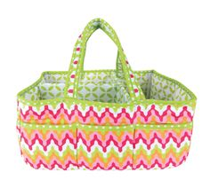 Add organization to any area of your home with this Savannah portable Storage Caddy by Trend Lab. This lightly padded caddy features a vibrant chevron print in paradise and petal pink, tiger orange, c