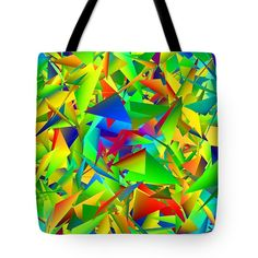 Colorful Crash 1 Tote Bag by Chris Butler.  #totebag #bag #abstract #colorful #design #art #Lifestyle
