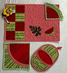 Looking for your next project? You're going to love Watermelon tableware set by designer QuiltessaNatali.