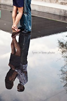 reflection engagement picture-- so I'm just browsing Pinterest and come across a pic of one of my best friends and her hubby! Aww, Cathy and Jared! That doesn't happen every day :)