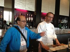 Chef Wayne Harris with our Vancouver Foodie Tour guide