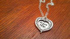 Hand stamped personalized sterling silver by ByalittlebitofFaith, $28.00