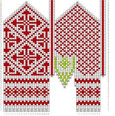 Variation on a mitten from Oppland pattern by Mijauw