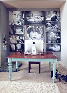 Si te gustan las cosas más serias, utiliza sólo fotos en blanco y negro de gran tamaño.