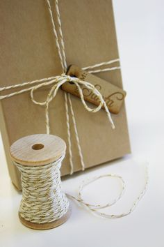 Metallic Gold Baker's Twine - 20 Yards for $3.90, via In The Clear on Etsy.