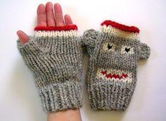 Fingerless Monkey Mittens ~ 4 Sizes | Craftsy