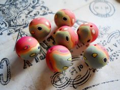 Polymer Clay Beads by TLS Clay Design by TLSClayDesign on Etsy, $5.99