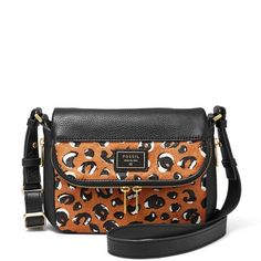 Fossil Preston Small Flap Cross Body Bag, Cheetah Fossil Preston Small Flap Cross Body Bag, Cheetah, One Size Features Cross-body bag in pebbled leather featuring gold-tone hardware and adjustable strap Product Details Product Dimensions: 10.2 x 9.3 x 3.7 in Product Weight: 1.35 lb ASIN: B00WIPI3QS Fossil Bags Crossbody Bags