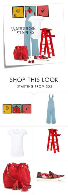 """Overall Good Time"" by amy-turner-mistric ❤ liked on Polyvore featuring Post-It, Chloé, Joseph, Rebecca Minkoff, Paul Smith, red, overalls, whitetee and WardrobeStaples"