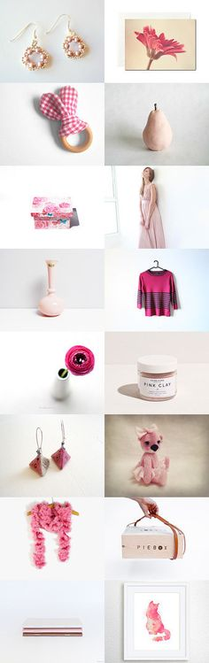 Pink Daydream by BeLuli Designer on Etsy--Pinned with TreasuryPin.com - This treasury FEATURES my SPRING FLOWERS EARRINGS (top left) 2015-04-18