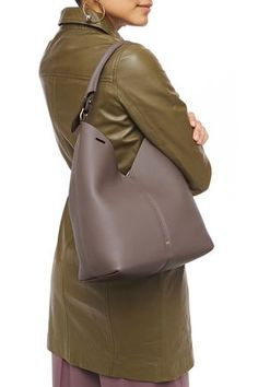ANYA HINDMARCH ANYA HINDMARCH WOMAN TEXTURED-LEATHER SHOULDER BAG MUSHROOM. #anyahindmarch #bags #shoulder bags #leather Leather Shoulder Bag, Shoulder Bags, Anya Hindmarch Fashion, Hobo Bag, Travel Style, World Of Fashion, Pebbled Leather, Luxury Branding, Mushroom