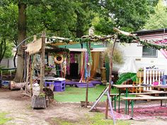 Seizoenplaats op camping Bakkum