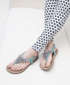 Beads Flat Sandals
