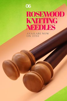 These lovely single-pointed wooden knitting needles are handmade and lovely to knit with. Made with gorgeous rosewood, they warm to your hand offering superior knitting experience. Available on Etsy in various sizes, 30cm long. Wooden Knitting Needles, Knitting Accessories, Knitting Projects, I Shop, Warm, Unique Jewelry, Handmade Gifts, Beautiful, Etsy