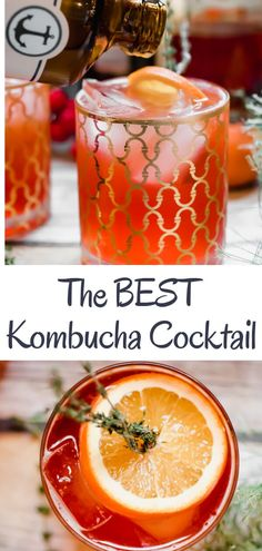 Ring in the holidays with a refreshing and delicious low alcohol cocktail A twist on a traditional Americana Cocktail using kombucha for a little extra gut health love The perfect light tasty fresh cocktail for a holiday party via abrapappa Best Kombucha, Kombucha Drink, Kombucha Cocktail, Kombucha Recipe, Kombucha Flavors, Tea Recipes, Cocktail Recipes, Paleo Recipes, Real Food Recipes