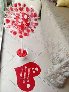 Escaparate día San Valentín - Villalba Interiorismo