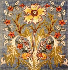 Scarlet Quince cross stitch chart: Adelaide I - May Morris