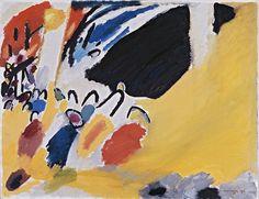 """Wassily Kandinsky, Impression III (Concert), 1911, Huile sur toile, 77,5 x 100 cm (Munich, Städtische Galerie). from """"Klee et Kandinsky, romance abstraite"""""""