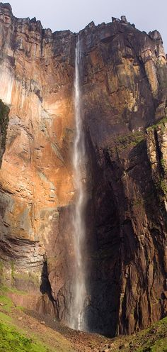 Angel Falls, Venezuela ...is a waterfall in Venezuela. It is the world's highest waterfall, with a height of 979 m (3,212 ft) and a plunge of 807 m (2,648 ft). The falls are located in an isolated jungle, and a flight from Puerto Ordaz or Ciudad Bolívar is required to reach Canaima camp, the starting point for river trips to the base of the falls.