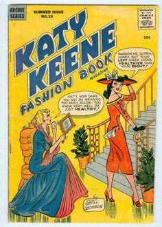 katy paper dolls | Katy Keene Fashion Book #13 VG paper dolls complete | eBay | We Heart ...