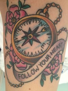 compass tattoo | Tumblr Traci look at this maybe change wording?