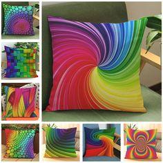 Rainbow Colors Throw Pillow Zazzle Com Colorful Throw