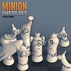 3D Printable Minion Chess by Billy Sides