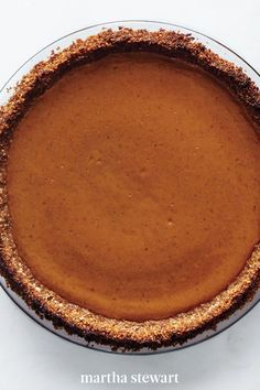 The secret weapon in our gluten-free baking arsenal? Our recipe for Crisp Rice-Almond Pie Crust. It pairs beautifully with cinnamon- and nutmeg-spiked pumpkin filling, and would be a superb base for just about any pie you please. #marthastewart #recipes #recipeideas #dessert #dessertrecipes Gluten Free Pumpkin Pie, Pumpkin Pie Recipes, Gluten Free Baking, Gluten Free Desserts, Cookie Recipes, Dessert Recipes, Dessert Ideas, Drink Recipes, Canadian Thanksgiving