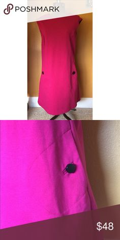 NWOT Mod Michael Korea Fuchsia Shift Dress Sz M NWOT. Never been worn. Deep fuchsia color a-line shift dress with pockets. Great over tights for the colder months and perfect shift dress for work. MICHAEL Michael Kors Dresses Mini