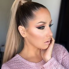 Image result for hair styles for smokey eyes