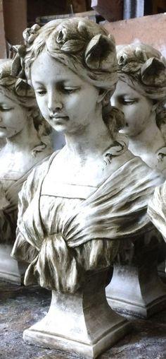 "Female art nouveau bust statue home or garden ornament ""Josephine"" High Sculptures, Greek Statue, New Image, Female Art, Statue, Art Nouveau, Art, Art Reference, Beautiful Art"