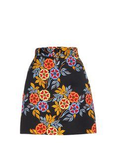 Floral-print textured-crepe skirt  | MSGM | MATCHESFASHION.COM UK