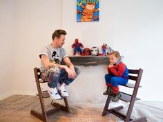 All dads are superheroes by Selwyn Senatori for the-dad.com - Stokke Tripp Trapp Chairs