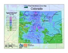 2012 USDA Plant Hardiness Zone Map for Colorado - yup, we're zone 6 in Denver/Boulder now.